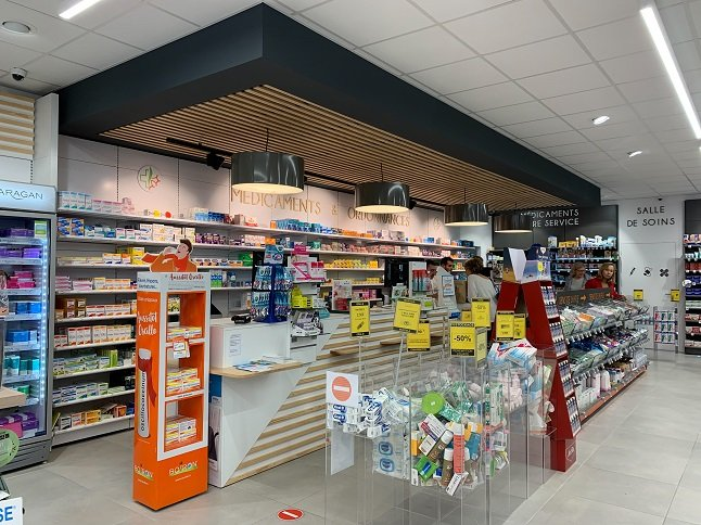 Proexpace agencement pharmacie Occitane Vendargues